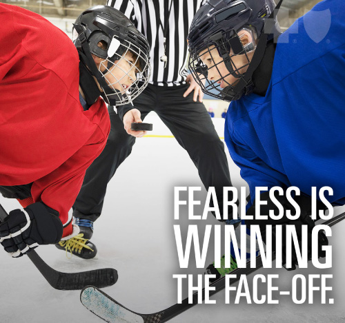 Fearless is winning the face-off.