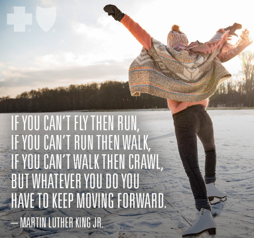 """If you can't fly then run, if you can't run then walk, if you can't walk then crawl, but whatever you do you have to keep moving forward."" -MLK, Jr."