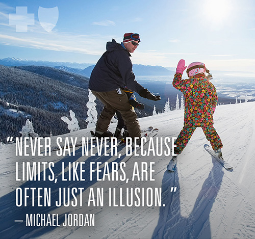 """Never say never, because limits, like fears, are often just an illusion."" -Michael Jordan"